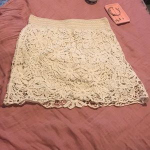 Cream skirt NEW with tags